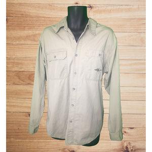 Calvin Klein LS Button Up Light Tan 2 Pocket Shirt